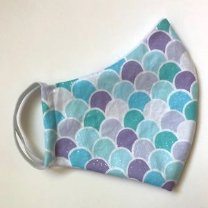 Accessories - 25% OFF 2/More Face Mask OSFM Mermaid Print Cotton